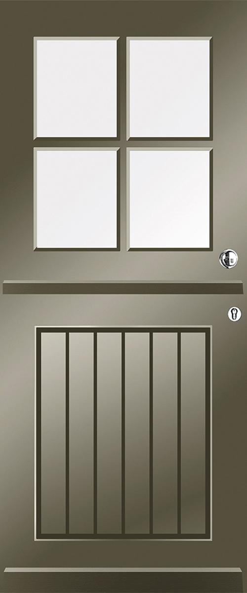 blank glas deur